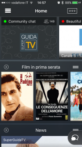 La HomePage di SuperGuida TV
