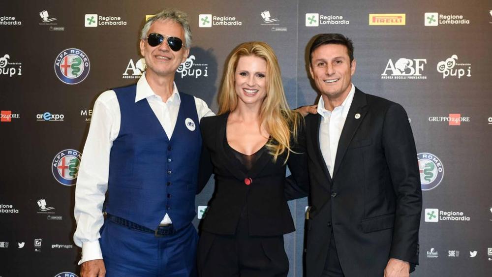 Andrea Bocelli e Javier Zanetti