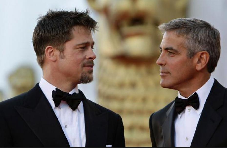 Pitt e Clooney