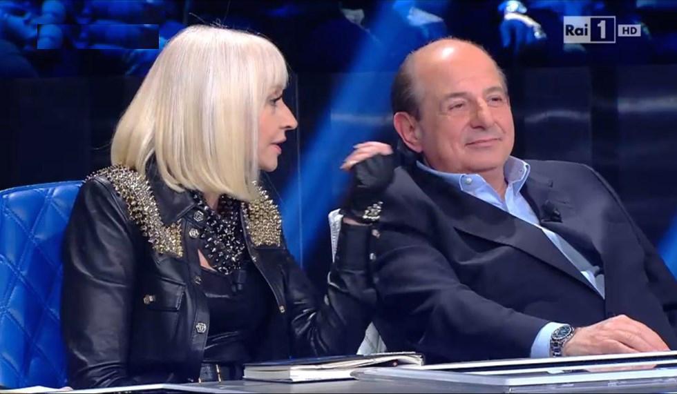 Raffaella Carra e Giancarlo Magalli