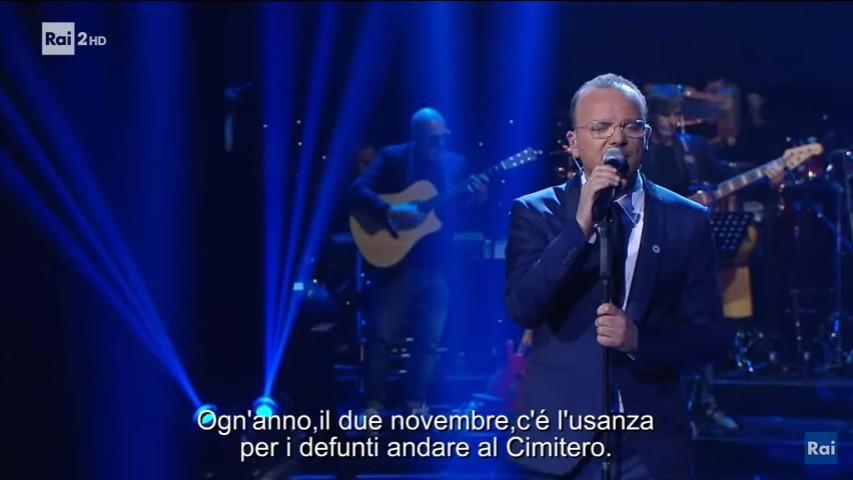 Gigi D'Alessio |  l'omaggio cantato al grande Totò a Made in Sud
