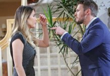 Liam e Steffy in una scena di Beautiful