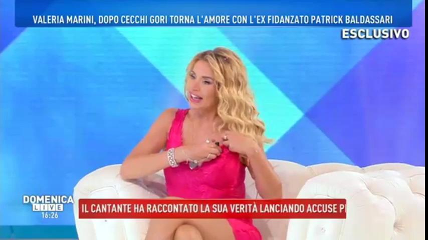 Valeria Marini a Domenica Live: dal malore della mattina all