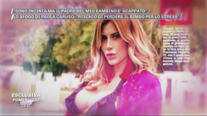 Paola caruso incinta - pomeriggio 5