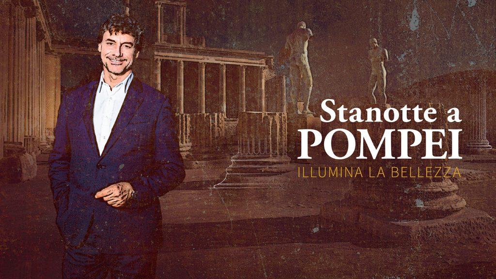 Anticipazioni Stanotte a Pompei, il viaggio di Alberto Angel