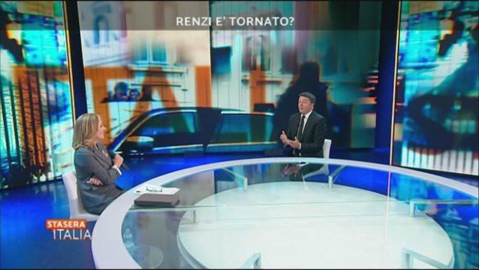 Stasera italia con Matteo Renzi