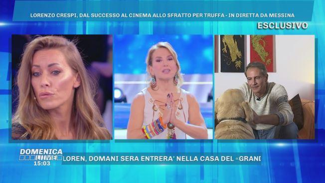 Domenica Live: Scintille tra Karina e Lorenzo Crespi