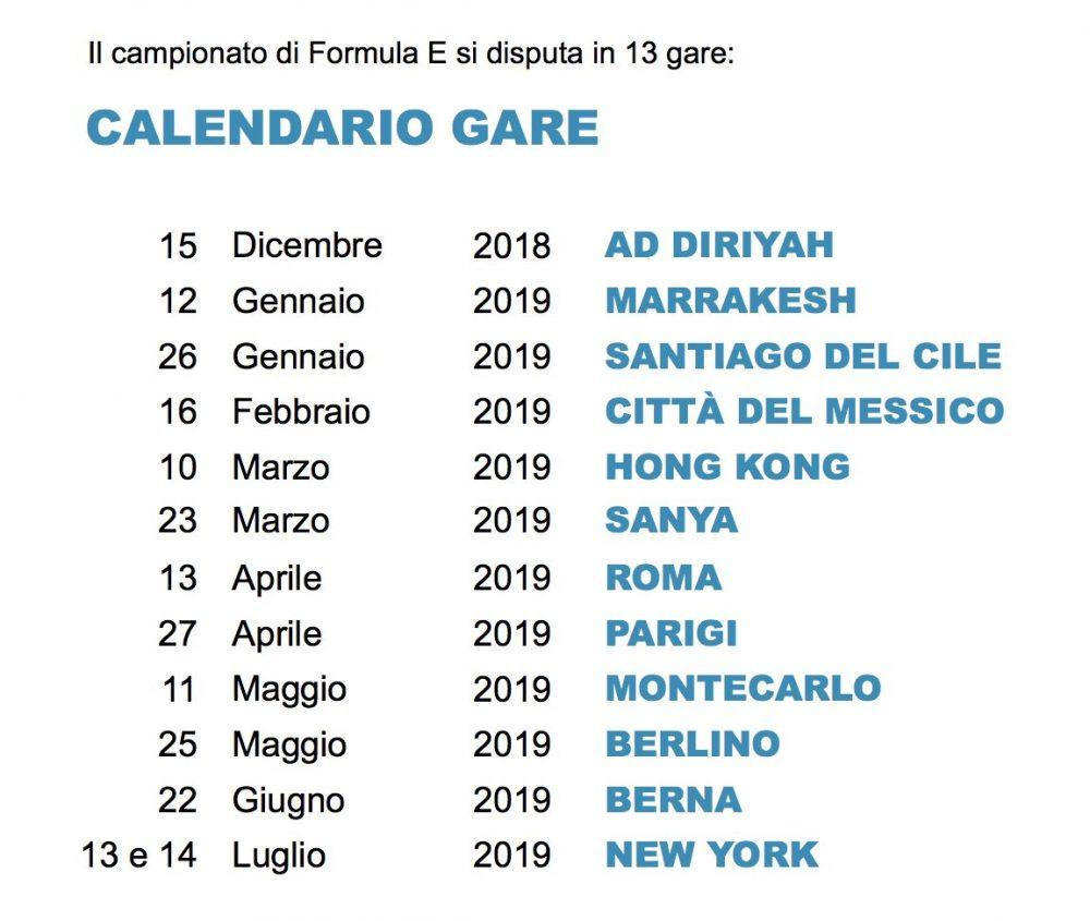 Calendario Formula E