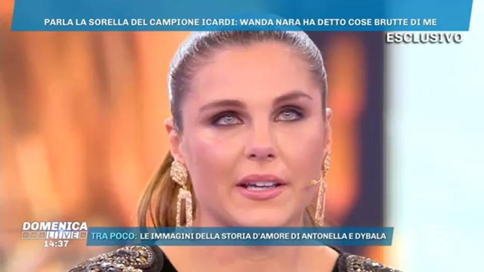 """La sorella di Icardi a Domenica Live: """"Non parlo con Mauro e"""