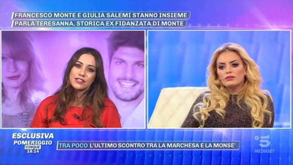 1b8dccb312d5 Pomeriggio 5  lite trash fra Elena Morali e Teresanna Pugliese