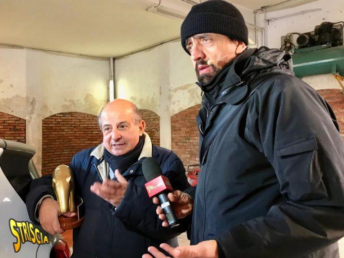 Giancarlo Magalli a Striscia la Notizia