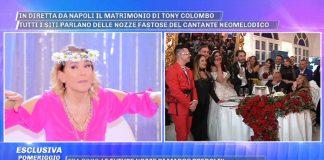 Tony Colombo sposo Pomeriggio 5