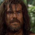 Una scena del Film Robinson Crusoe
