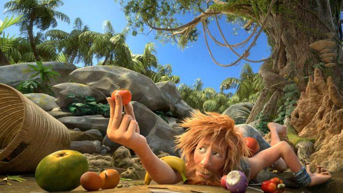 Una foto tratta dal film Robinson Crusoe del 2016 film