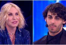 Antonella Clerici e Alberto Urso si riabbracciano ad Amici 2019 Serale dopo Ti lascio la canzone