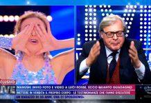 Il momento della litigata tra Vittorio Sgarbi e Barbara D'Urso a Live