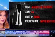Identikit di Marco Caltagirone mostrato a Live - Non è la D'Urso