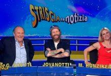Jovanotti a Striscia la notizia con Gerry Scotti e Michelle Hunziker