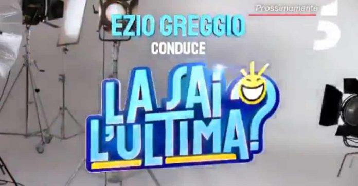 Il logo de La sai l'ultima 2019, programma di Canale 5 con Ezio Greggio