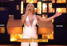 Michelle Hunziker canta a All together now