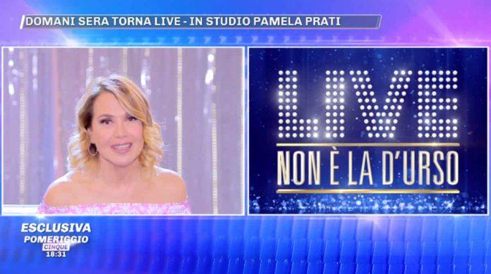 Pamela Prati sarà ospite a Live - Non è la D'Urso: l'annuncio a Pomeriggio 5