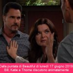 Bill minaccia Katie e Thorne nella puntata di Beautiful di oggi, 17 giugno 2019