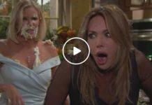 Brooke e Taylor si prendono a torte in faccia nella puntata di Beautiful di martedì 11 giugno 2019