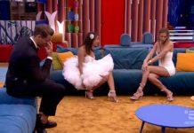 Taylor Mega e Francesca De André litigano durante la finale di Grande Fratello 2019