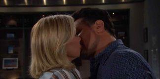Il bacio tra Brooke e Bill andato in onda nella puntata di Beautiful di oggi, 17 luglio 2019