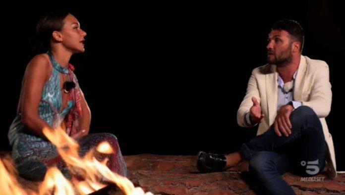Jessica Battistello e Andrea Fiilomena al falò di confronto nella quarta puntata di Temptation Island 2019