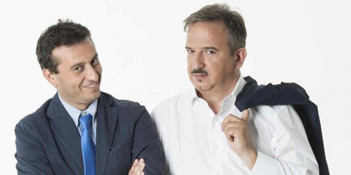 Luca Telese e David Parenzo in onda su La 7