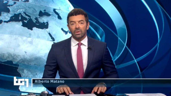Alberto Matano lascia il Tg1 per un po' nell'edizione delle ore 20.00 di domenica 25 agosto 2019
