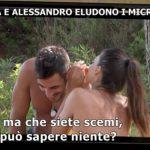Il 'tentatore' Alessandro e Serena Enardu eludono i microfoni a Temptation Island Vip 2019