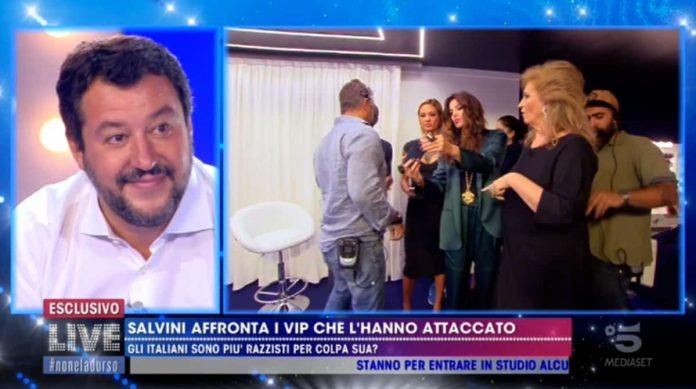 Matteo Salvini intervistato a Live - Non è la D'Urso
