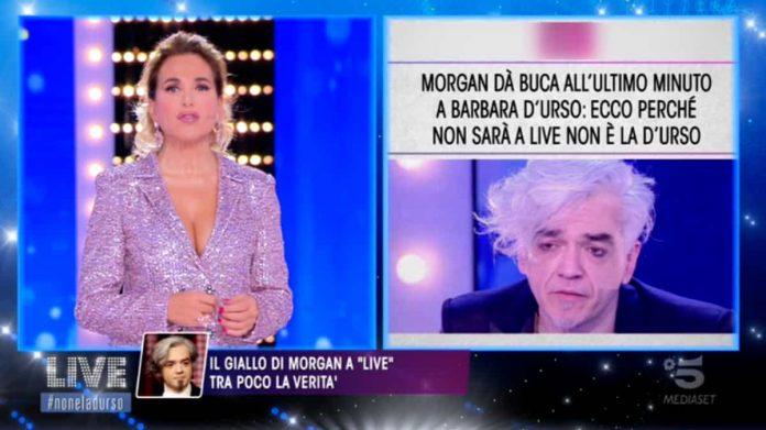 Barbara D'Urso risponde a Morgan per l'intervistata saltata a Live - Non è la D'Urso 2019