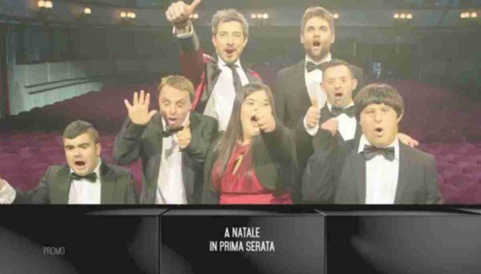 Paolo Ruffini e gli altri attori in un promo di Up e Down