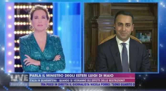 Barbara D'Urso intervista il ministro Di Maio