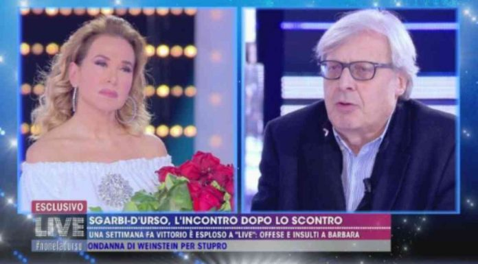 Barbara D'Urso e Vittorio Sgarbi fanno pace a Live