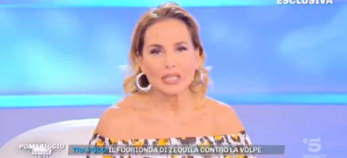 Barbara d'Urso infuriata