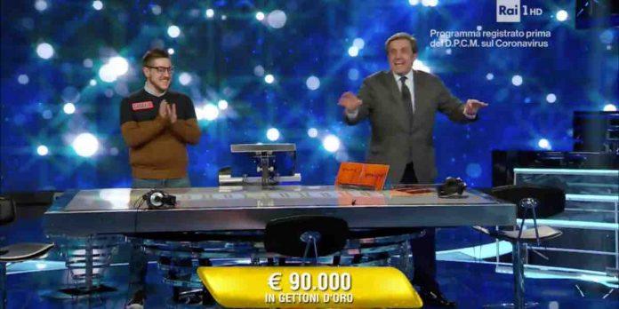 Gabriele vince 90mila euro a L'Eredità