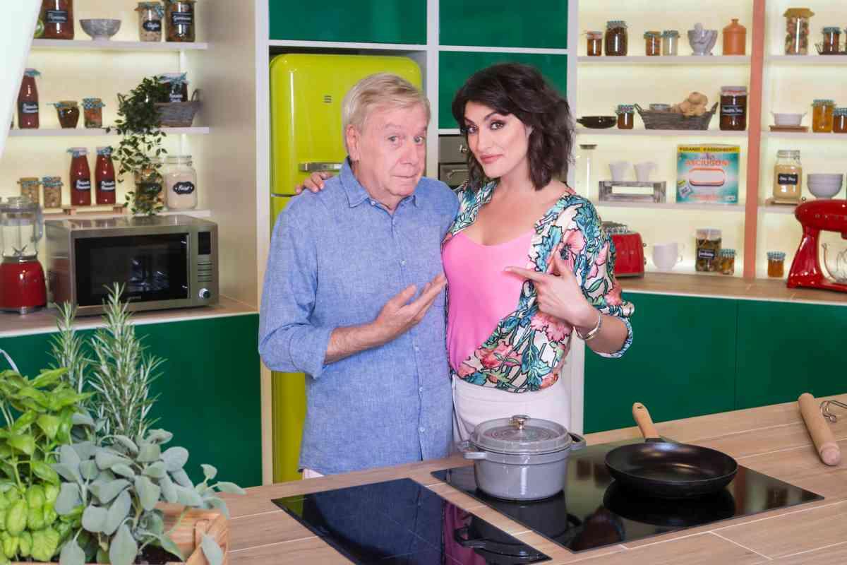 Claudio Lippi e Elisa Isoardi a La Prova del Cuoco