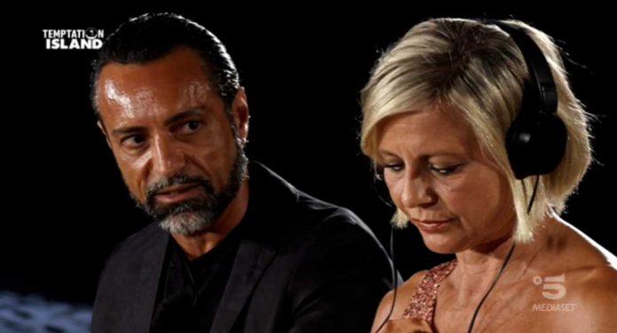 Il falò di confronto di Antonella Elia e Pietro Delle Piane a Temptation Island 2020