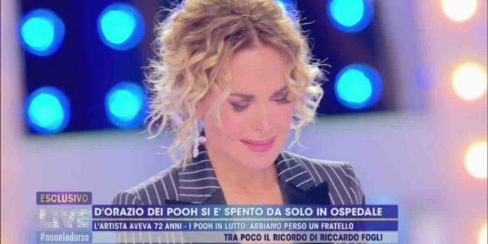 Barbara D'Urso in lacrime per Stefano D'Orazio