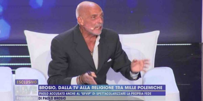 Paolo Brosio a Live Non è la D'Urso