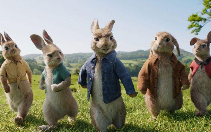 Una scena dal film Peter Rabbit