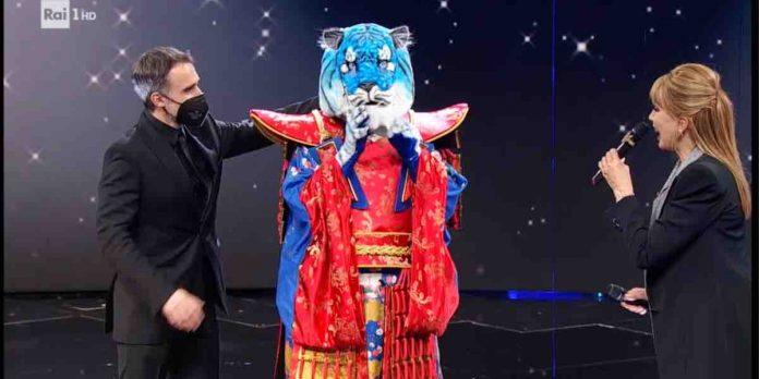 tigre azzurra il cantante mascherato 2021