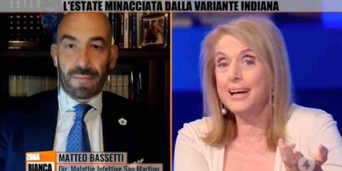 Bassetti Boralevi scontro a Zona Bianca