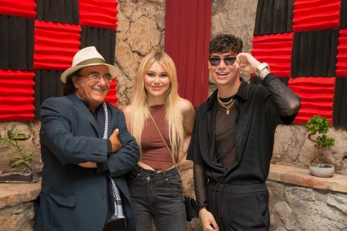 Deny K e Jasmine Carrisi, con Albano